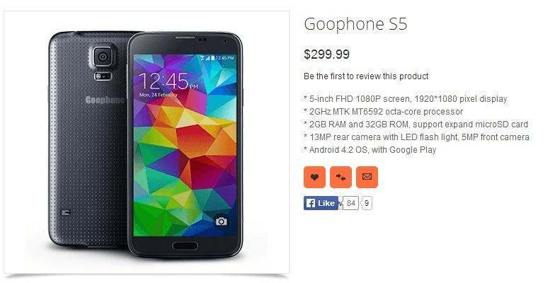 Samsung Galaxy S5 | Arriva già il primo clone a soli 300$ !