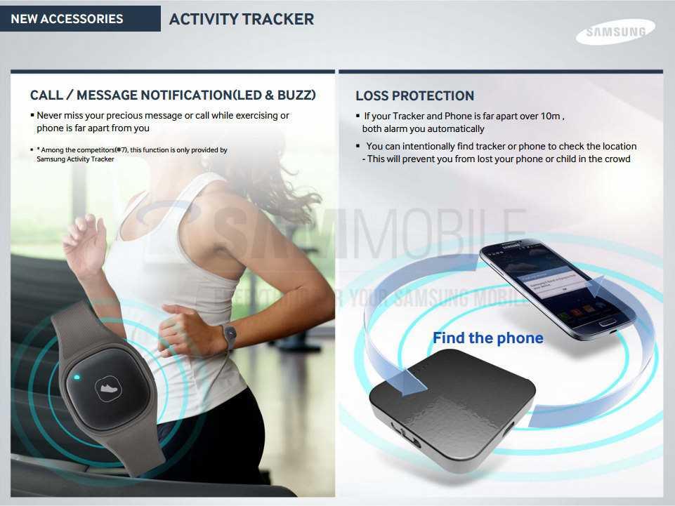 Nuovo Samsung S band per l'attività fitness