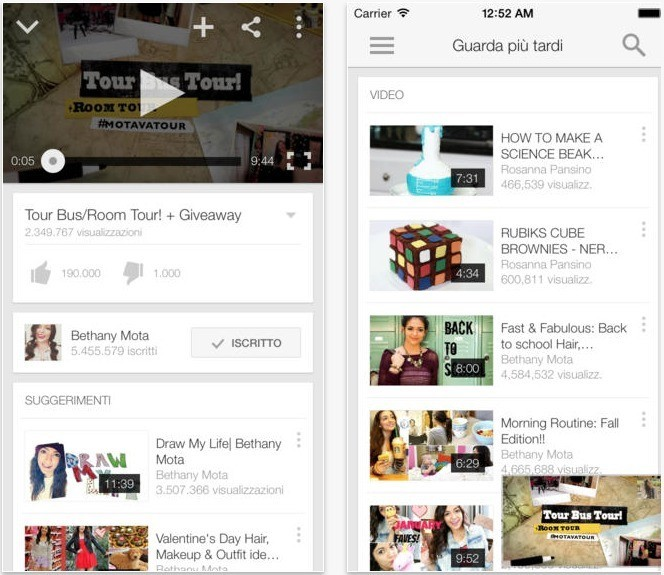 iOS 7 YouTube