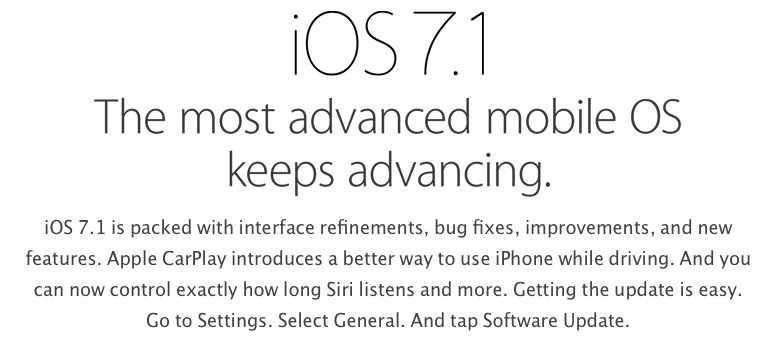 Apple ringrazie il gruppo di hacker Evad3rs, nel documento di iOS 7.1