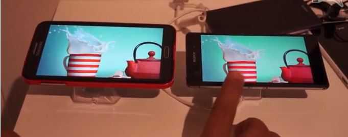 Xperia Z2 vs Galaxy Note 3 | Video confronto dei display dei dispositivi Sony e Samsung