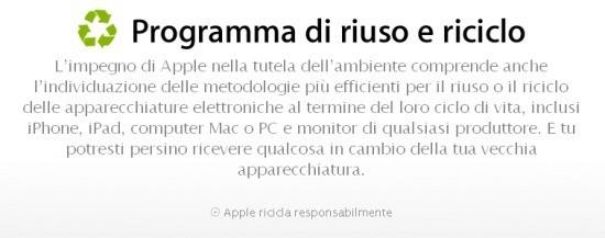 Apple attiva il programma di riciclo dei dispositivi!