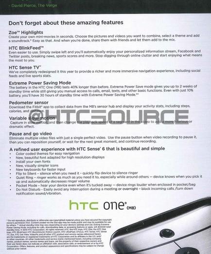 HTC One M8 batte Galaxy S5 in 5 punti come trapela da un documento HTC!