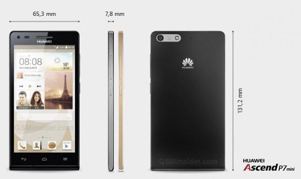 Huawei Ascend P7 Mini Ufficiale | Disponibile prima del fratello maggiore