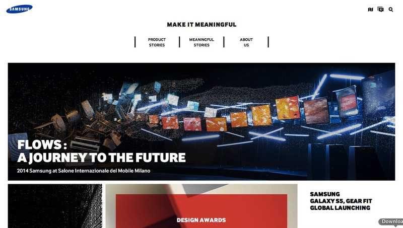 Samsung apre un sito sulla filosofia del design e l'innovazione