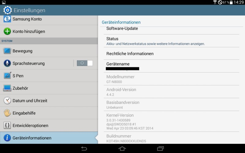 Galaxy Note 10.1 GT-N8000 | Arriva da Samsung la leaked rom Android 4.4.2!
