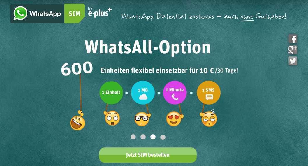WhatsApp Sim | Arriva la Sim card per la messaggistica istantanea! Si parte dalla Germania
