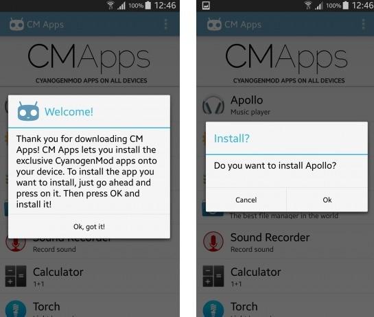 CM Apps install