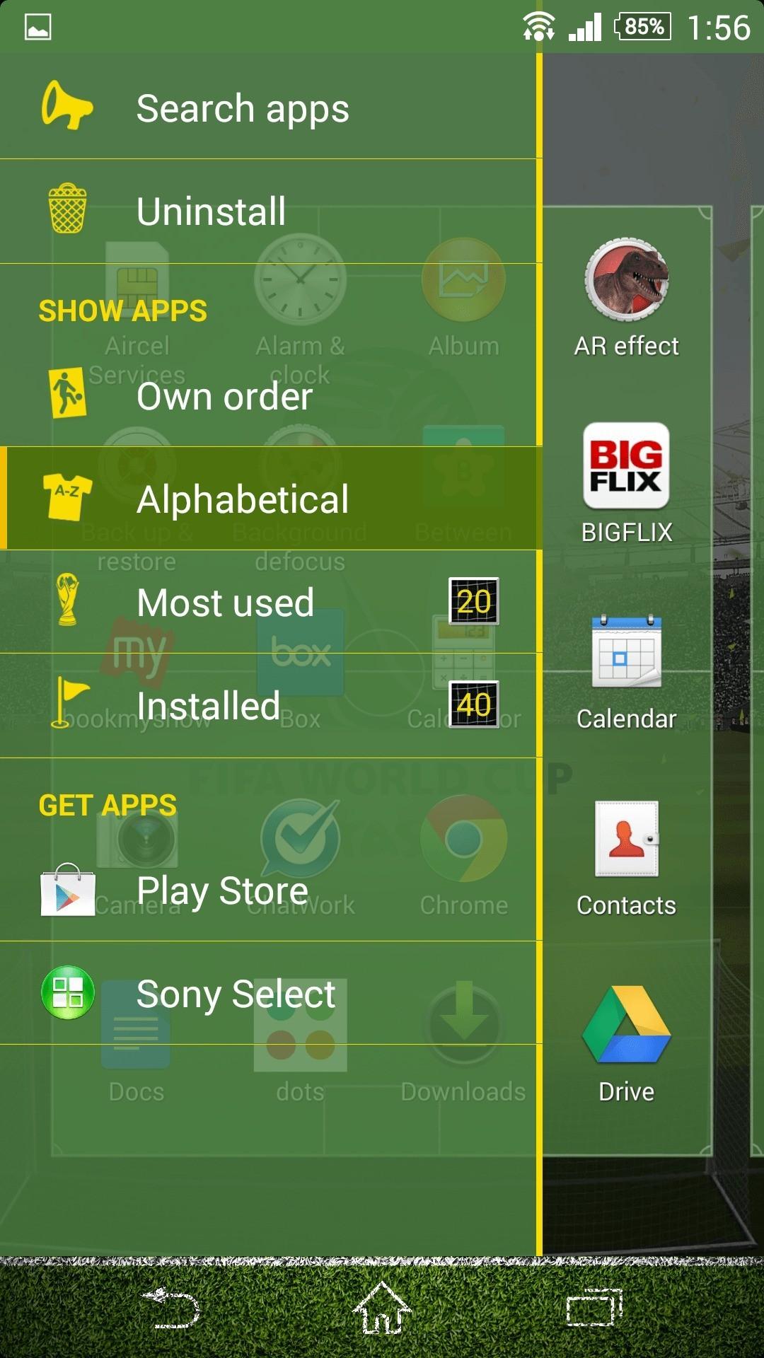 Sony Xperia rilascia il tema Coppa del Mondo su Google Play Store