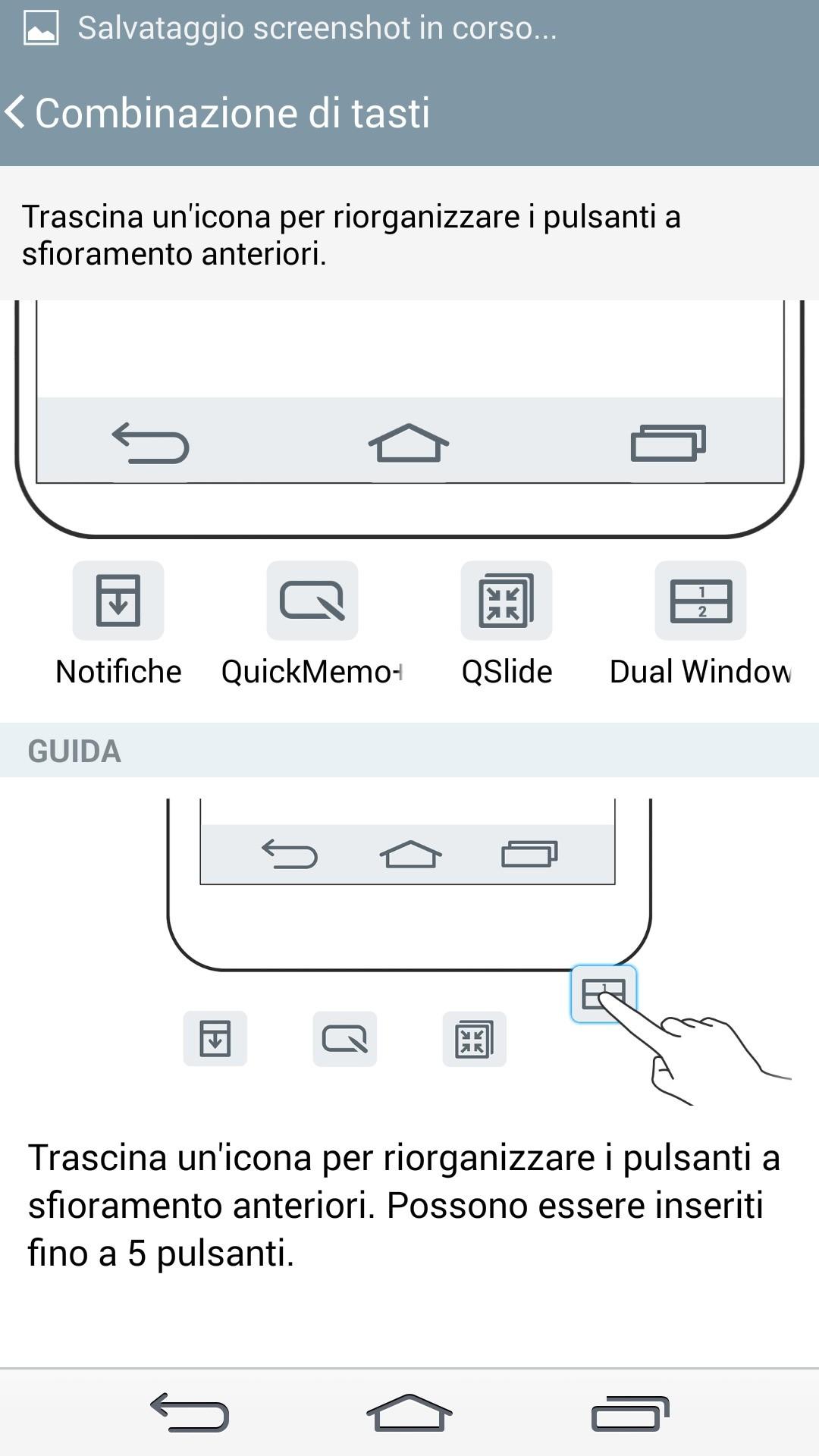 personalizzare i tasti virtuali di LG G3
