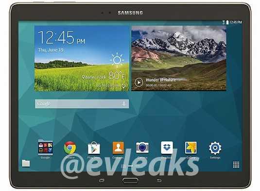 Samsung Galaxy Tab S, prime immagini ufficiali