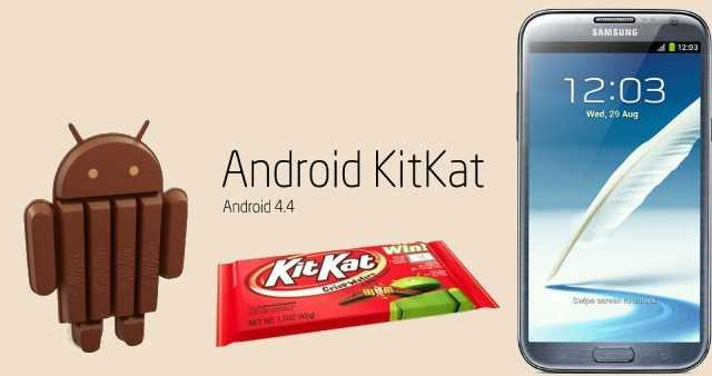 Disponibile Android 4.4.2 KitKat per Galaxy Note 2 brand Wind