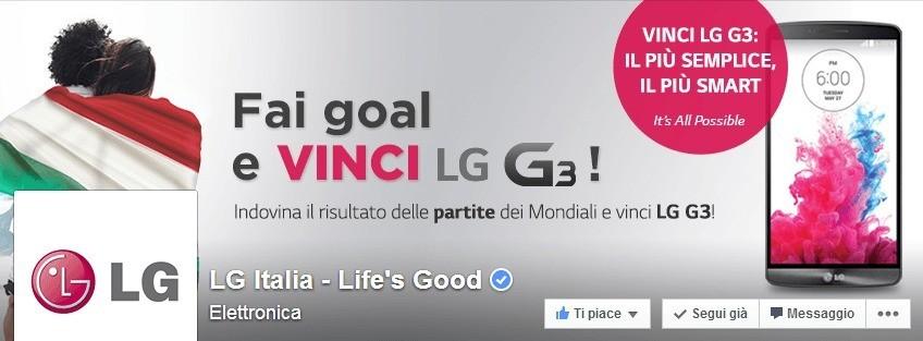 LG G3 in regalo con la promozione Mondiale LG !