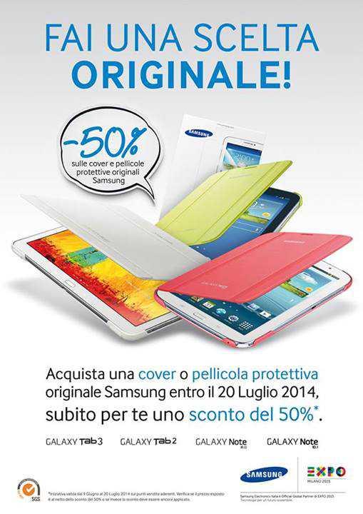 Promozione cover e pellicole originali Samsung