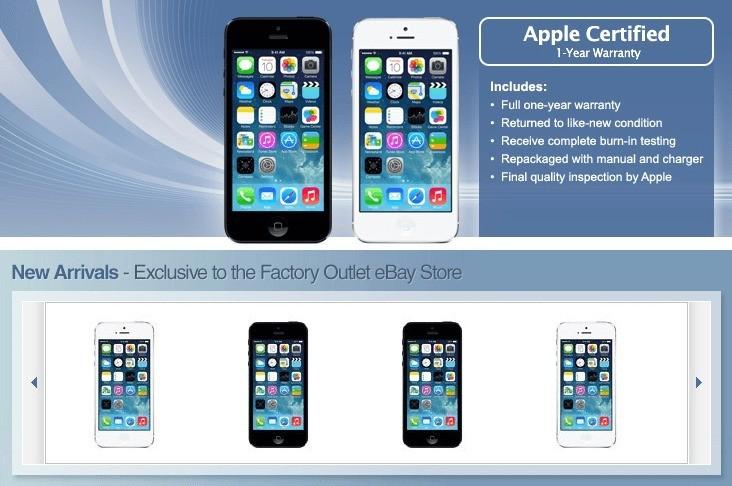 iPhone 5 ricondizionati e garantiti Apple in vendita su Ebay grazie ad una nuova partnership!