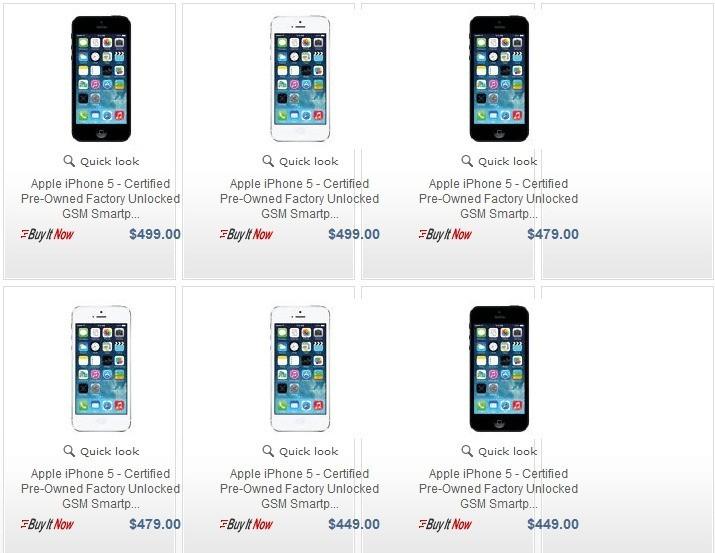 iPhone 5 ricondizionati e garantiti Apple