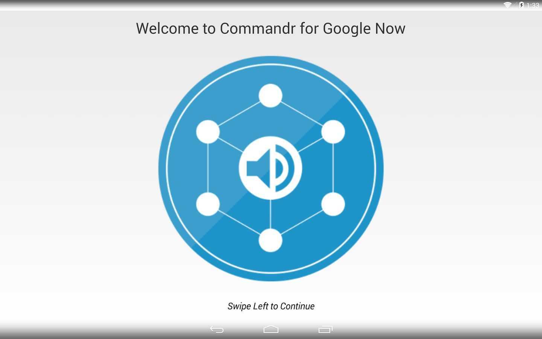 Commandr, implementa i comandi per Google Now