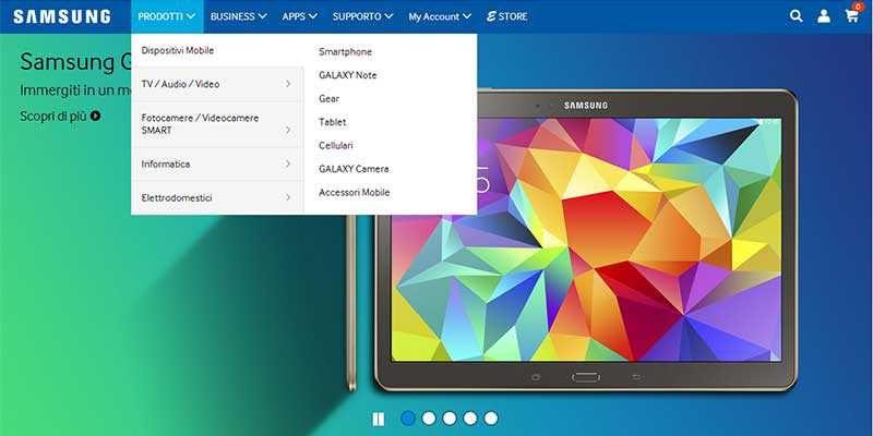 Samsung.com, arriva lo store per acquistare i tuoi prodotti Samsung