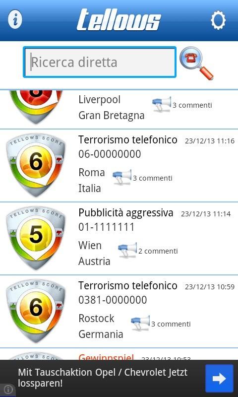 Tellows App, come proteggerci dai numeri telefonici pericolosi