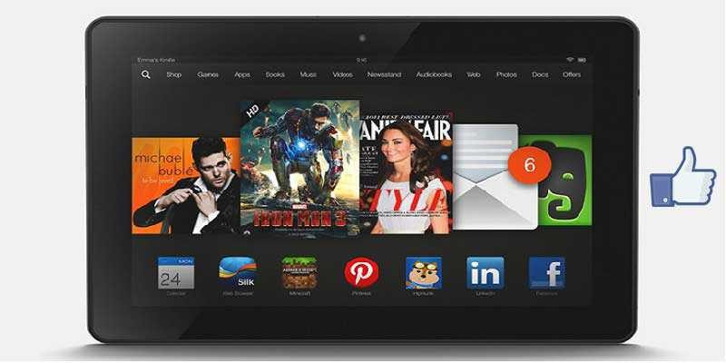 Nuovo Amazon Kindle Fire HDX 8.9 con Snapdragon 805
