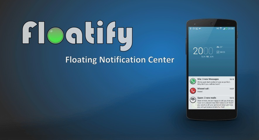 Floatify porta le notifiche di Android L sui dispositivi Android senza root!