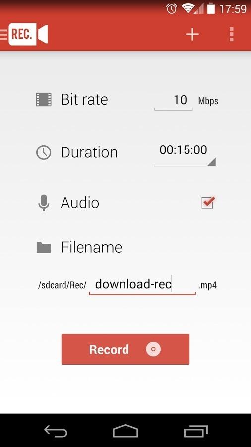 Guida: cattura video dello schermo con Android