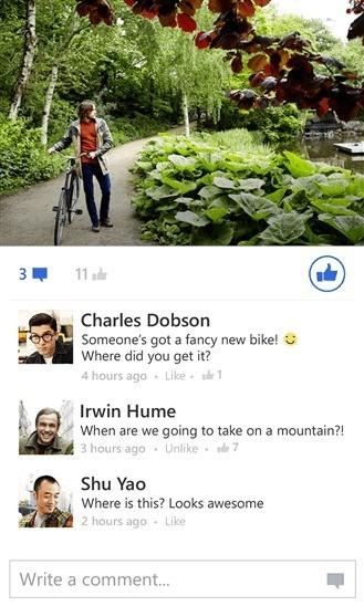 Facebook per Windows Phone si aggiorna con grandi novità