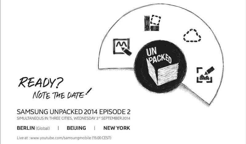 Diretta live Unpacked 2014 Episode 2 per la presentazione del Galaxy Note 4 di Samsung