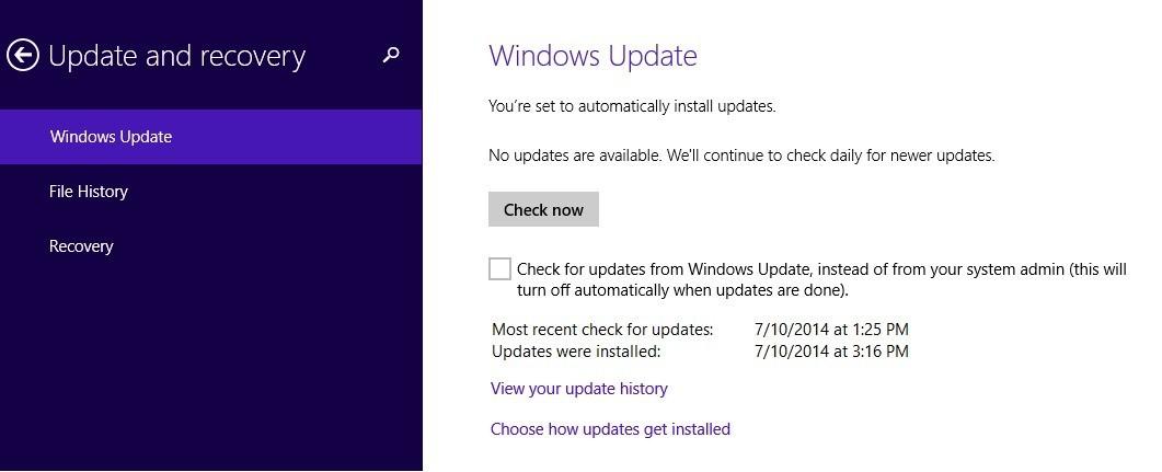 windows 8 update 2