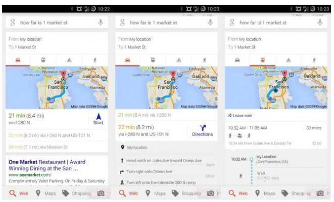 Google Maps si integra in Google Now