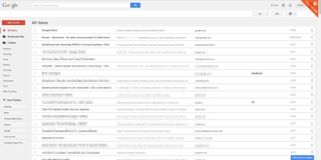 Nuove immagini per Google Stars , nuovo servizio di gestione dei segnalibri di Google!