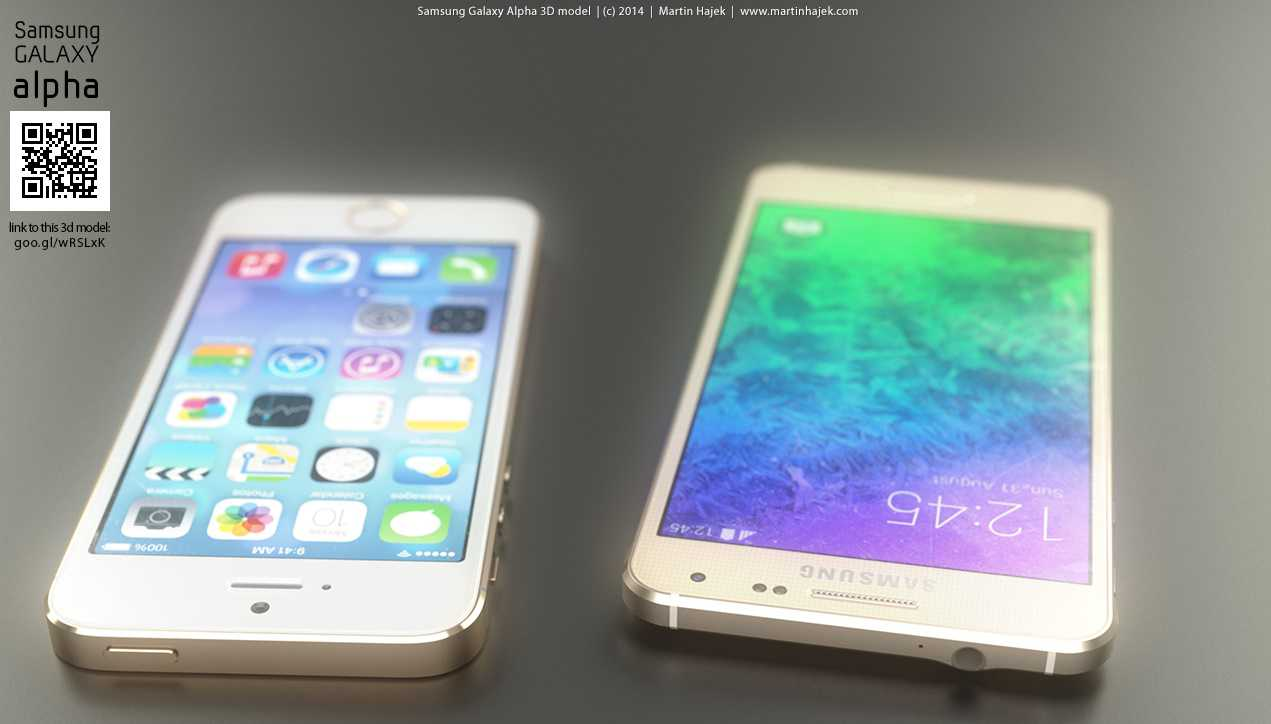 Le immagini dell'iPhone 6 confrontato al Galaxy Alpha grazie a questi render!