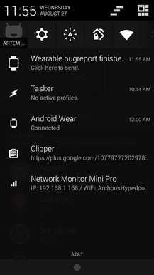 Nuovo aggiornamento per Android Wear