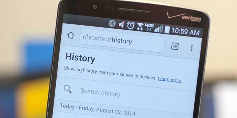 Android: come cancellare i dati di navigazione di Chrome