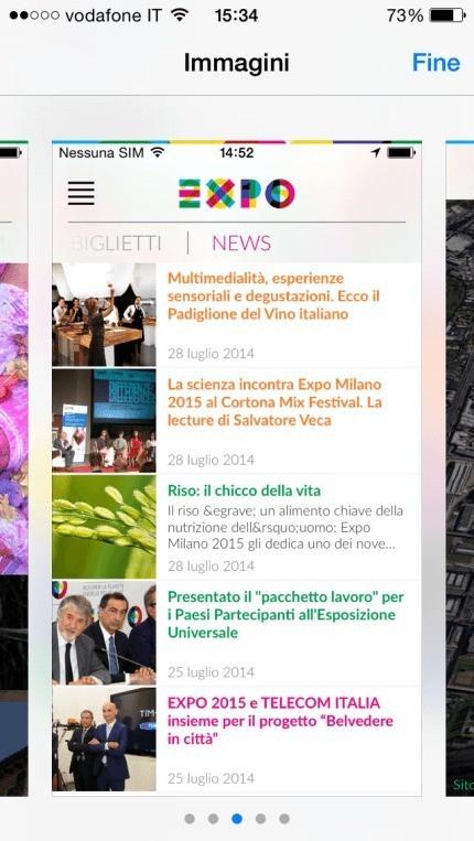 Expo 2015: L'App ufficiale disponibile per iOS e Android