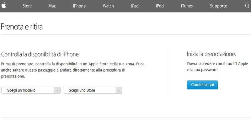 È ora possibile prenotare l'iPhone 6 online dal sito Apple!