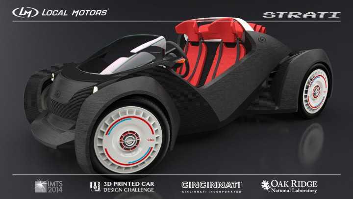 Nasce la prima auto 3D stampata interamente con un processo di 44 ore