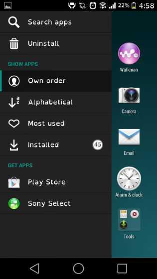 Il launcher dell'Xperia Z3 disponibile per i vecchi Xperia