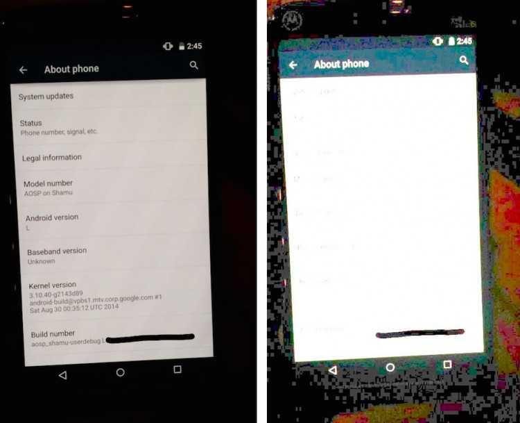 Nexus 6 e Android L