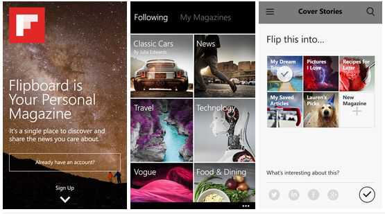 Flipboard per Windows Phone