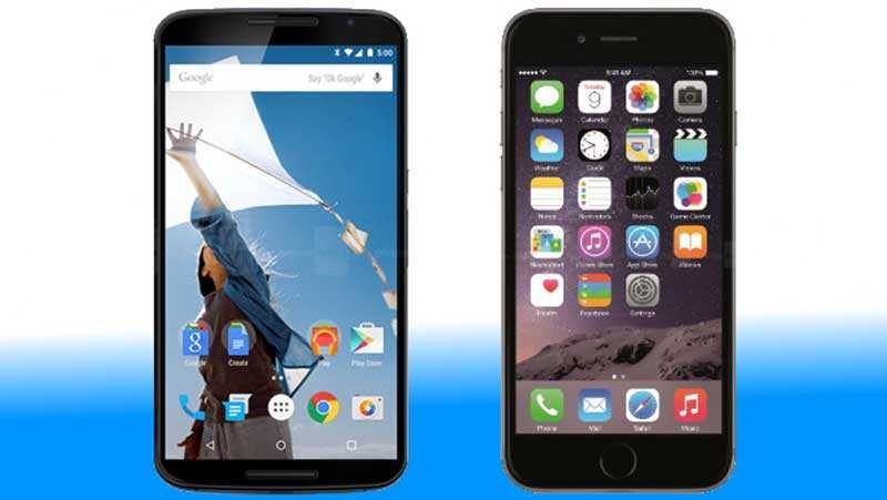Prove di registrazione, Google Nexus 6 sfida iPhone 6