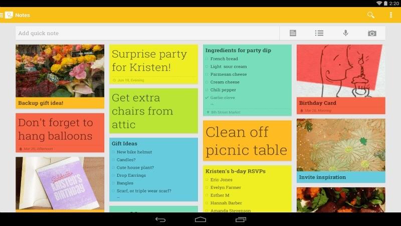 Anche Google Keep si aggiorna con note ed elenchi in Material Design