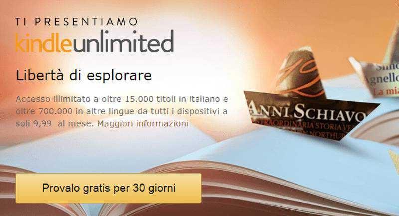 15808664a594cf Da Amazon arriva Kindle Unlimited, 15.000 titoli in italiano a 9.99€ al mese