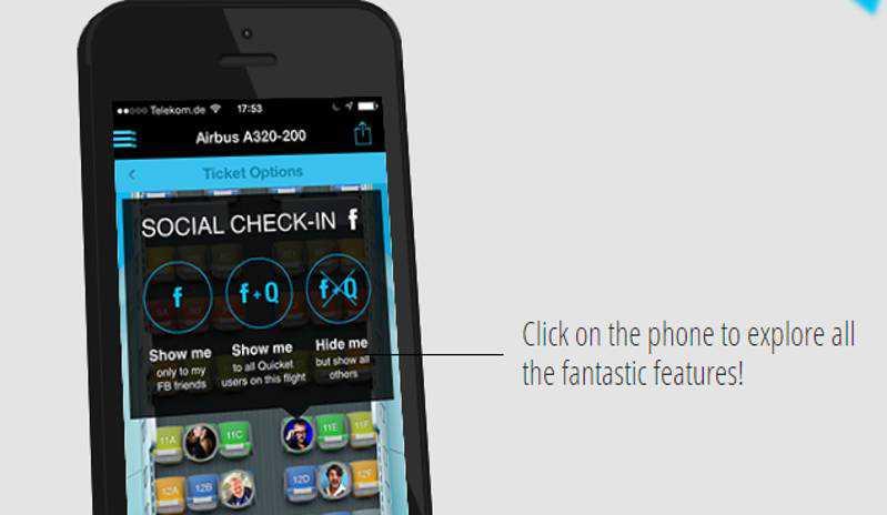 Quicket, l'app per socializzare anche in aereo!