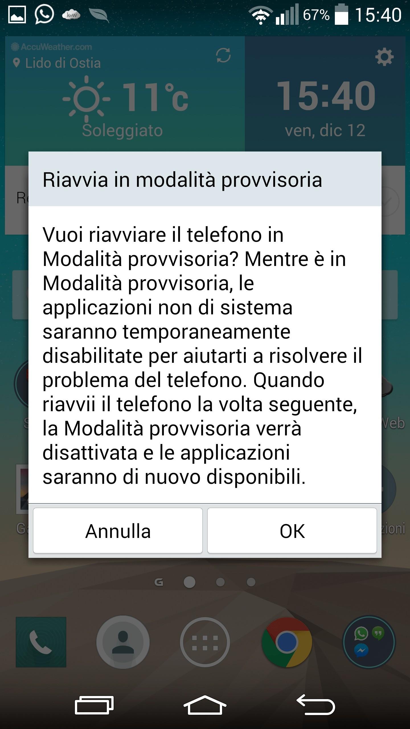 Come attivare la modalità provvisoria Android?