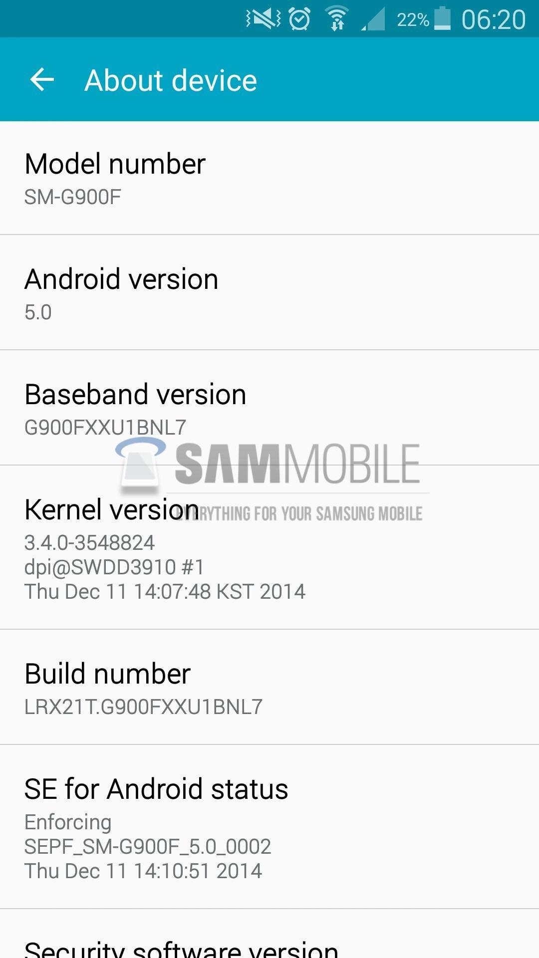 Android 5.0 Lollipop per Galaxy S5, nuova versione in Polonia