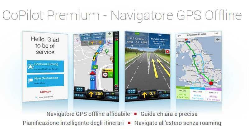 CoPilot GPS per Android disponibile gratuitamente su Amazon Appstore