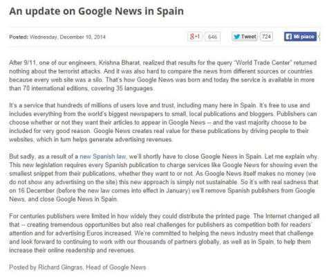 google news chiude