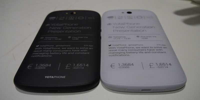 YotaPhone 2: confermato doppio display, CPU S801, 2GB di RAM e Android KitKat