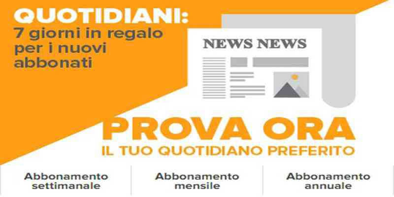 Edicola italiana da oggi online per pc, tablet e smartphone!